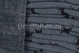 Alpenfleece coupon bedruckt unicorn grau/schwarz_