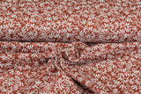 Baumwoll Musselin bedruckt glatt flower terra_