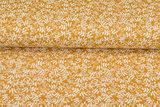 Baumwoll Musselin bedruckt glatt flower ockergelb_