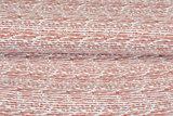 Baumwoll Musselin bedruckt glatt stripes terra_