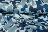 Knitted Camouflage Denim blau-grau_