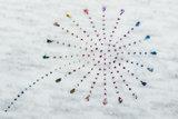 Alpenfleece bedruckt glitzer blowball dew drop AG80_