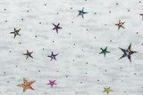 Alpenfleece bedruckt glitzer star dew drop AG74_