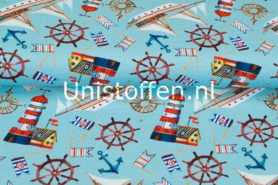Baumwolljersey bedruckt Sailor