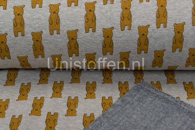 Alpenfleece coupon bedruckt Bear Melange