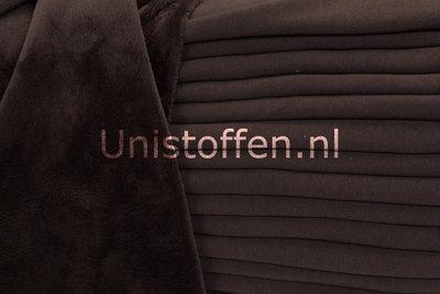 Alpenfleece uni coupon Braun