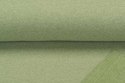 Sweat meliert White Yarn pastell grün