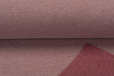 Sweat meliert White Yarn pastell rot
