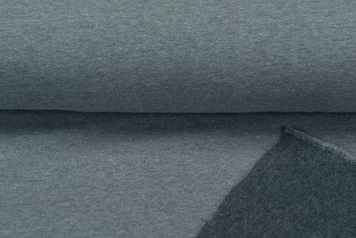 Sweat meliert White Yarn blau-grau