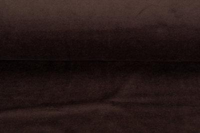 Feincord Jersey dunkelbraun