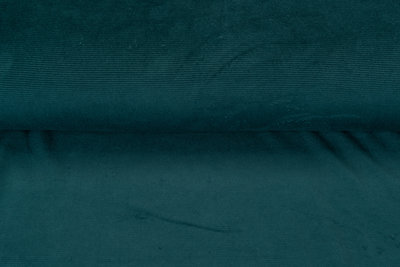 Feincord Jersey dunkelgrün