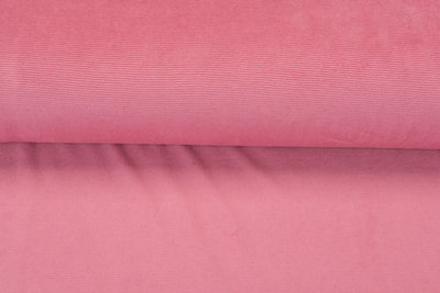 Feincord Jersey pastell rosa