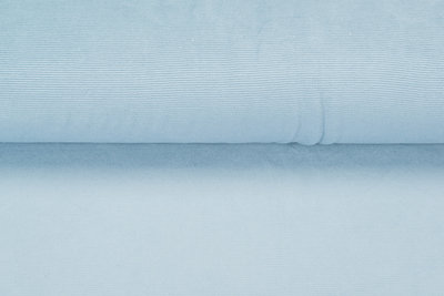 Feincord Jersey pastell blau