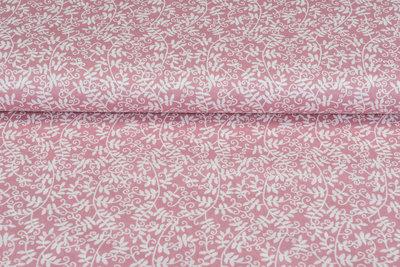 Baumwolle Popeline bedruckt flower rosa