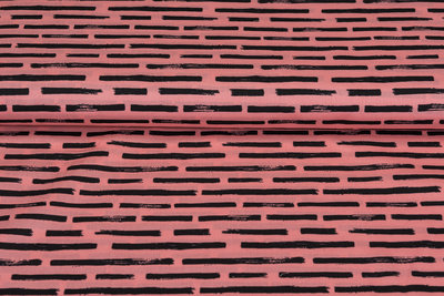 Baumwolle Popeline bedruckt brush stripes rosa