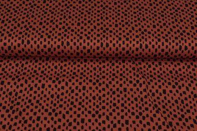 Baumwolle Popeline bedruckt brush pattern rost