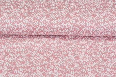 Baumwoll Musselin bedruckt glatt flower rosa