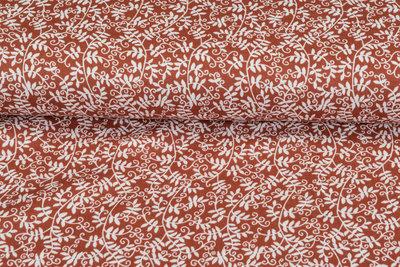 Baumwoll Musselin bedruckt glatt flower terra