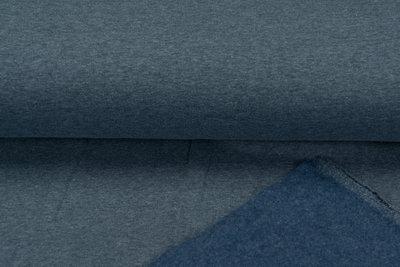 Sweat meliert Black Yarn blau