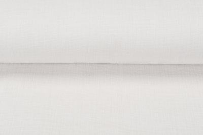 Baumwoll Musselin leinen look ecru-beige