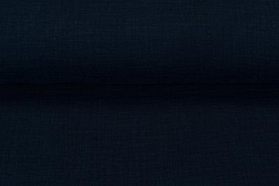 Baumwoll Musselin leinen look dunkelblau
