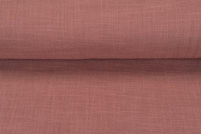 Baumwoll Musselin leinen look pastell lachs