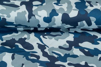 Knitted Camouflage Denim blau-grau