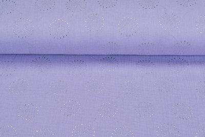 Baumwoll Musselin glitzer blowball dropps silber flieder
