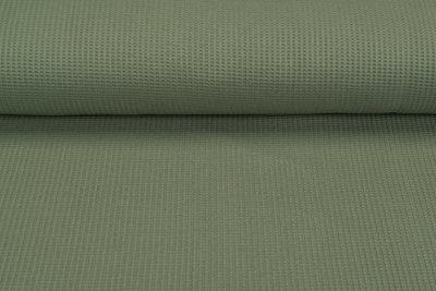 Waffelstrick Jersey pastell grün