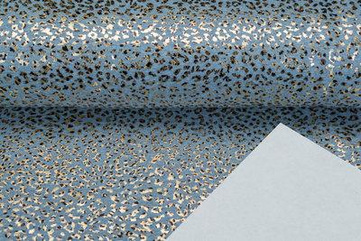 Alpenfleece bedruckt glitzer panther foil AG84
