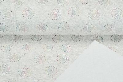 Alpenfleece bedruckt glitzer blowball dew drop AG80