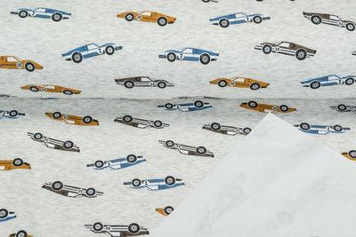 Alpenfleece bedruckt NA628 Vintage Race Cars