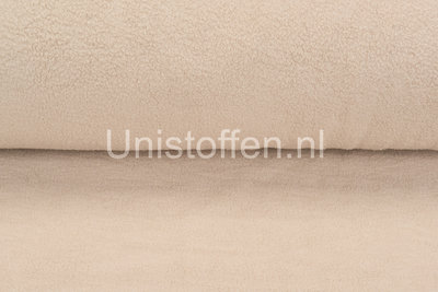 Baumwolle Fleece sand