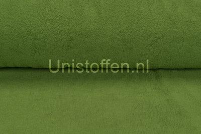 Baumwolle Fleece grasgrün