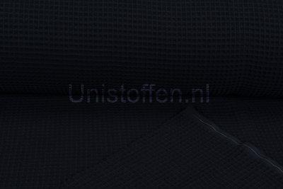 Waffeltuch fein schwarz