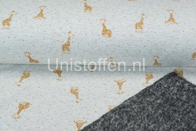 Alpenfleece bedruckt NA374 Sandy Mix