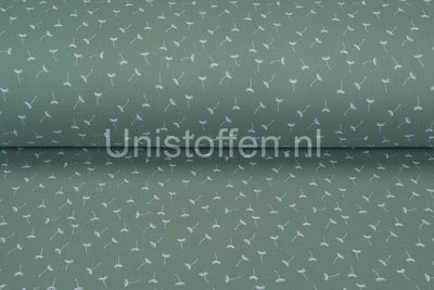 Baumwoll Musselin bedruckt Dandelion dunkelmint