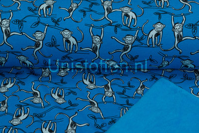 Alpenfleece bedruckt NA398 Monkey Jungle
