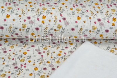 Alpenfleece bedruckt NA386 Romantic Mini Flower