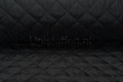 Steppstoff wattiert,schwarz