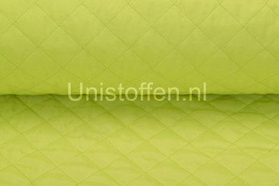 Steppstoff wattiert,neongelb/grün