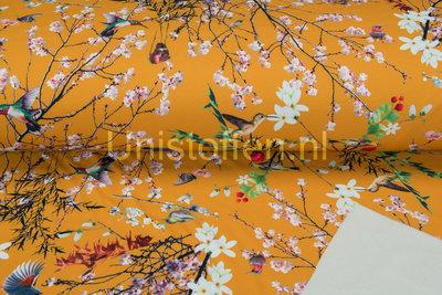Softshell bedruckt Digital Japanese Birds