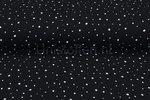 Baumwoll-Musselin-bedruckt-dots-schwarz
